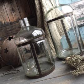 Decoratieve fles-vaas 18cm drsn. / 30cm H