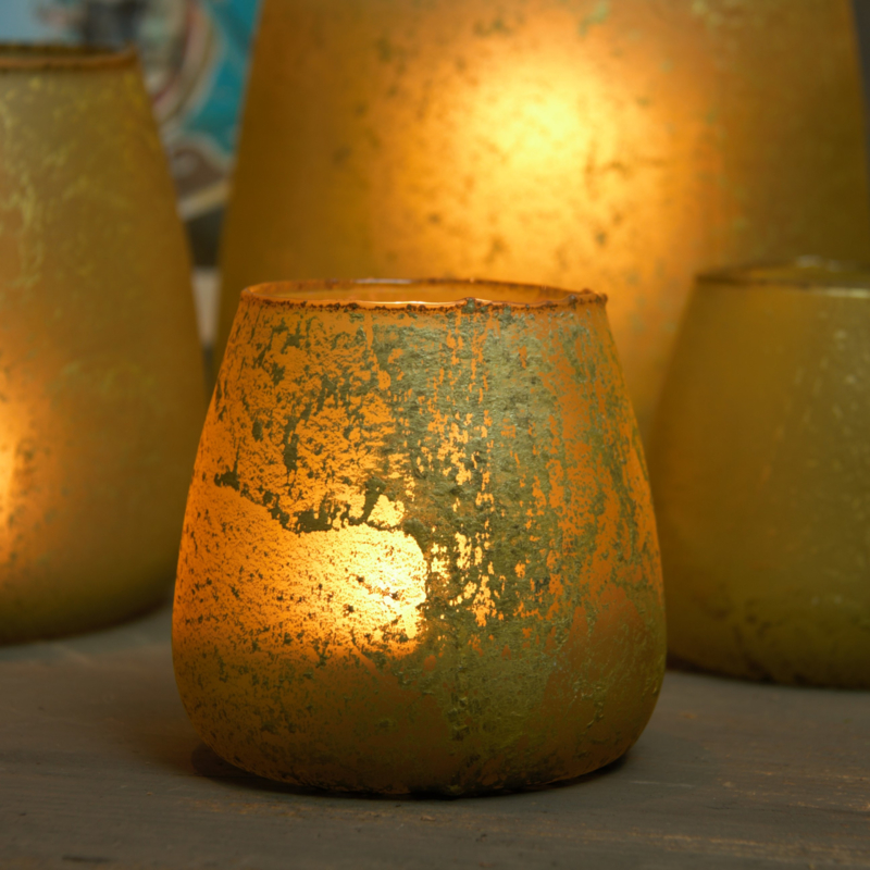 Pot Glass scandic Yellow 11cm drsn / 10cm H
