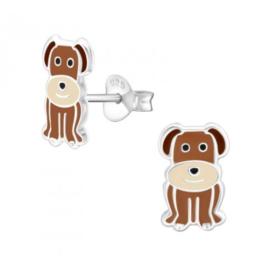 Bruine hondjes oorbellen