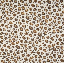 Babybroekje - Off white/ luipaard print