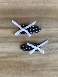 Haarknipjes zwart-wit gestippeld