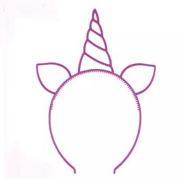 Haarband eenhoorn paars