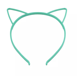 Haarband kattenoortjes groen