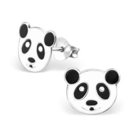 Pandakop oorbellen