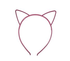 Haarband kattenoortje roze