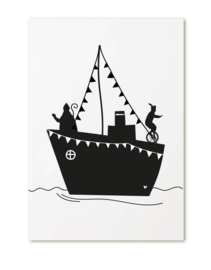Cadeaukaartje Stoomboot Sinterklaas