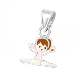 Gymnastiek meisje zilveren hanger