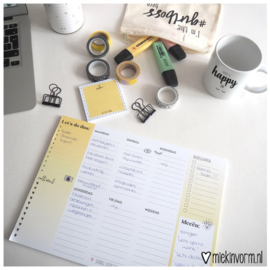 Weekplanner 'Let's do this'