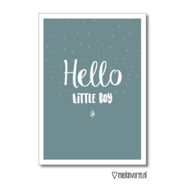 Hello little boy - dubbele kaart