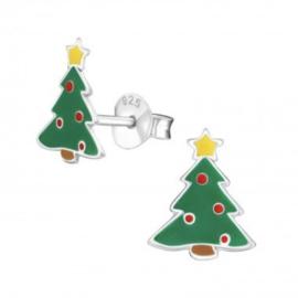 Kerstboom oorbellen