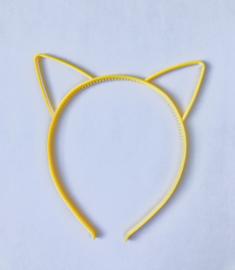 Haarband kattenoortjes geel