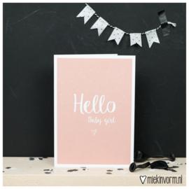 Hello baby girl - dubbele kaart