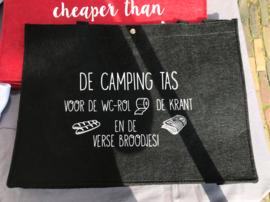 De campingtas