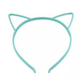 Haarband kattenoortje mint