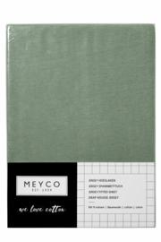 Meyco jersey hoeslaken - Forest Green