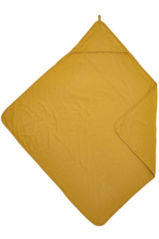 Meyco jersey badcape - Okergeel