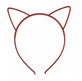 Haarband kattenoortjes rood