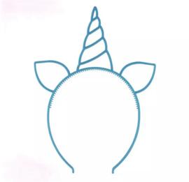 Haarband eenhoorn blauw