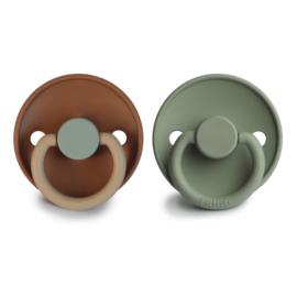 Frigg  siliconen speen T1 | Safari/ sage