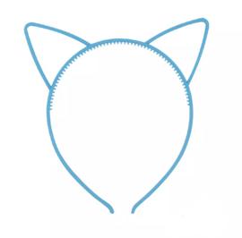 Haarband kattenoortjes blauw