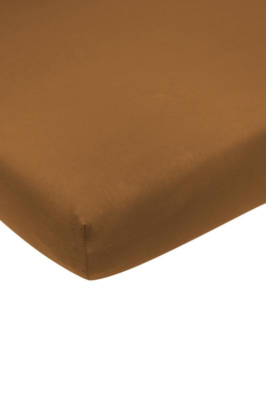 Meyco jersey hoeslaken - Camel