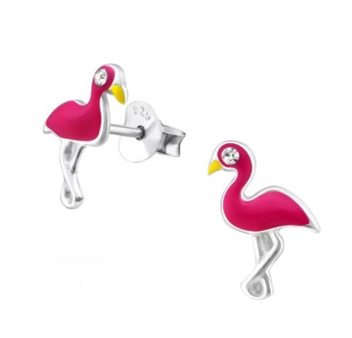 Flamingo oorbellen