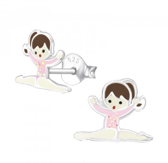 Gymnastiek meisje oorbellen