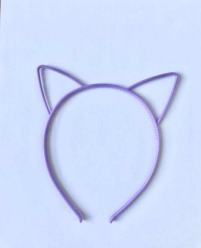 Haarband kattenoortjes paars