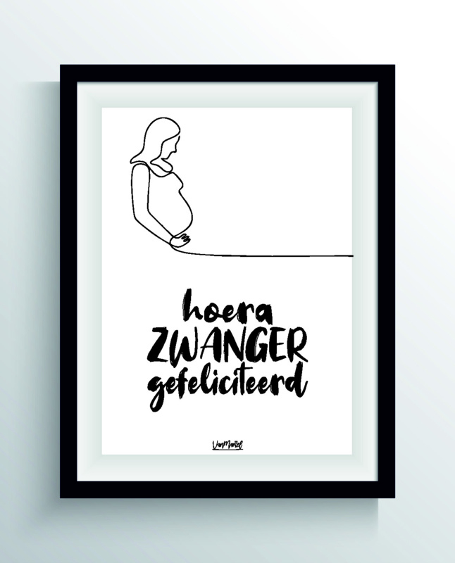 Hoera zwanger (one line)