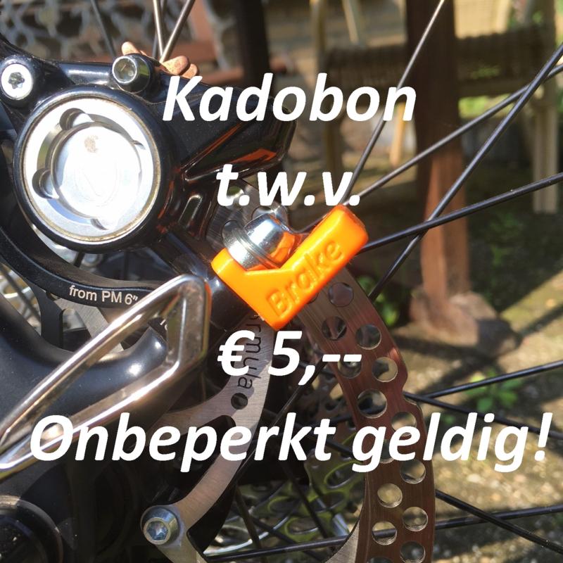 Kadobon t.w.v. € 5,-- ;-) en een verrassing voor jou!!