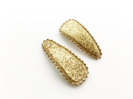 Haarspeldjes glitter goud