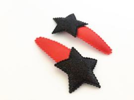 Haarspeldjes ster zwart