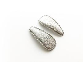 Haarspeldjes glitter zilver