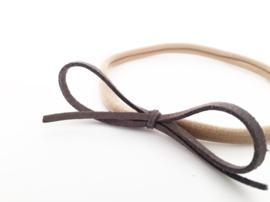 Haarbandje donkergrijze strik