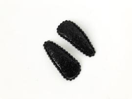 Haarspeldjes glitter zwart