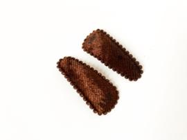Haarspeldjes bruin fluweel