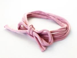 Knoop haarbandje pale pink