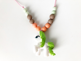 Kinderketting unicorn  groen