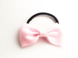 Haarelastiek strik licht roze