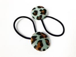 Elastiekjes pastel leopard