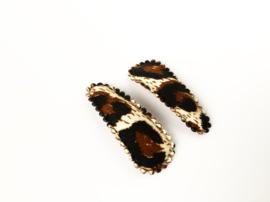 Haarspeldjes panterprint bruin