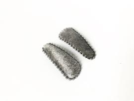 Haarspeldjes grijs fluweel