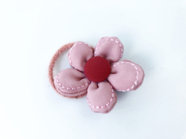 Elastiekje bloem roze