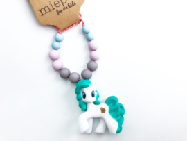 Kinderketting unicorn blauw