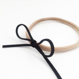 Haarbandje zwarte strik