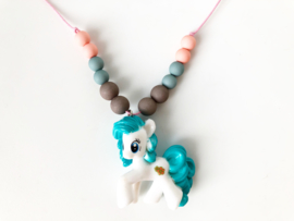 Kinderketting unicorn blauw