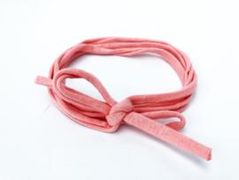 Knoop haarbandje zalm roze