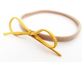 Haarbandje gele strik
