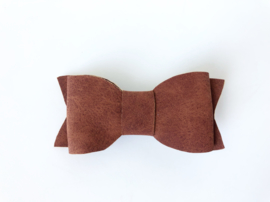 Fake leather bow