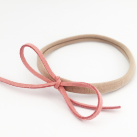 Haarbandje oudroze strik